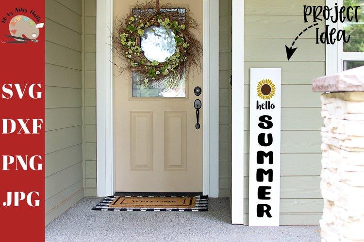 Hello Summer Front Porch Wood Sign svg, home decor svg