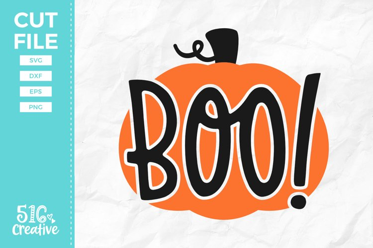 Boo Pumpkin SVG DXF EPS PNG example image 1