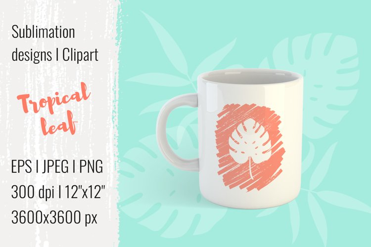 Sublimation designs | Clipart | Tropical leaf| EPS JPG PNG example image 1