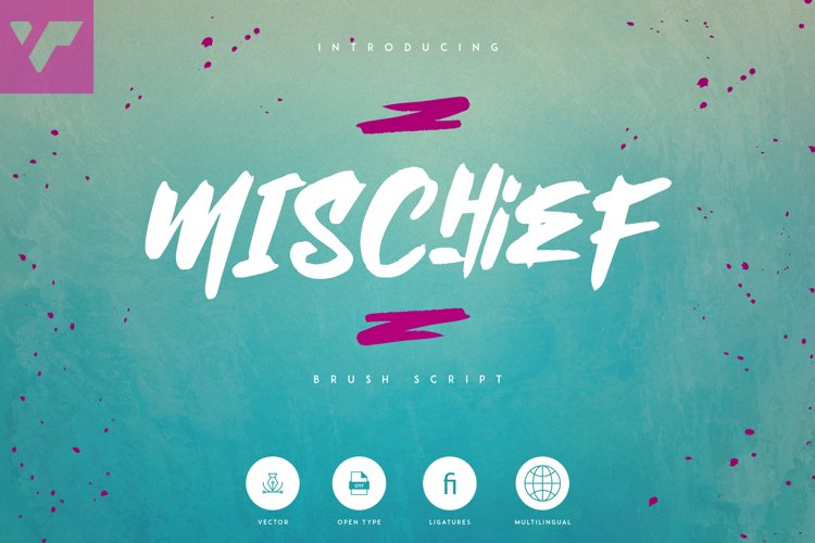 Mischief - Brush font Extras example image 1