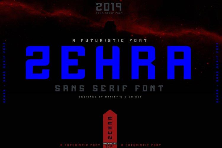 ZEHRA Modern Sans Serif example image 1