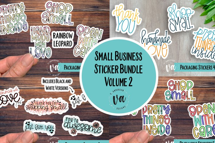 Small Business Packaging Stickers Bundle Volume 2 PNGs