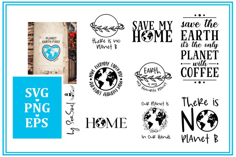 Save our planet set. SVG, PNG, EPS
