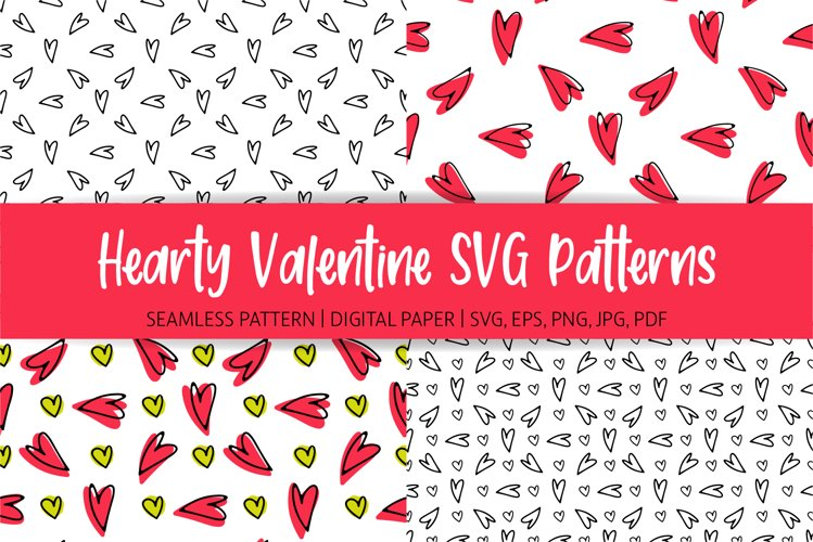 Hearts Pattern SVG | Digital Paper
