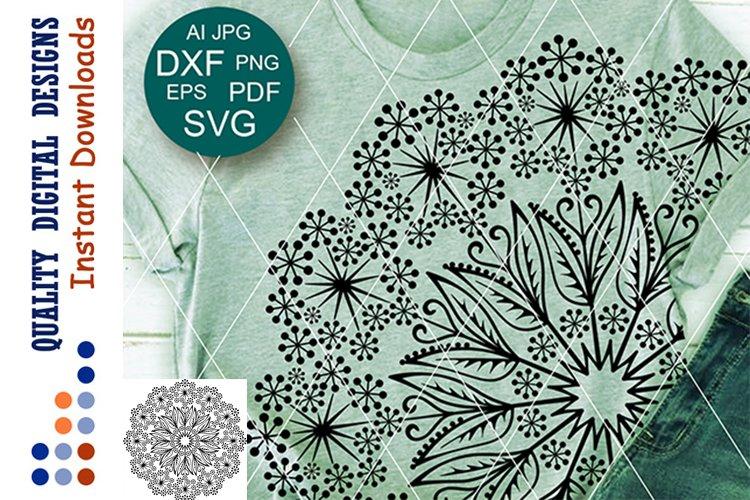 Floral Mandala dandelions clip art Flowers SVG files Cricut