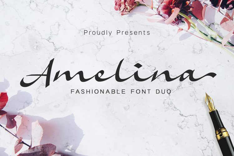Amelina Font Duo example image 1