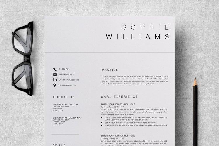 Resume Template | CV Template - Sophie Williams