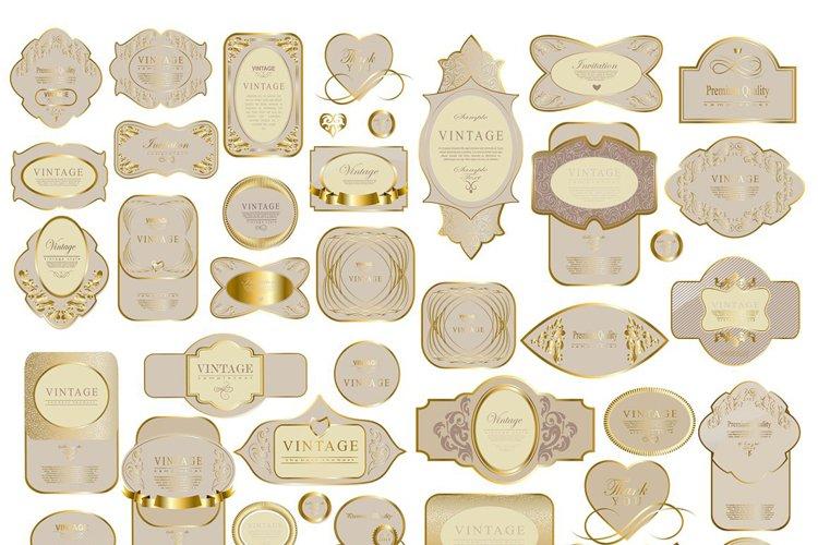 Vintage ribbons & labels set example image 1