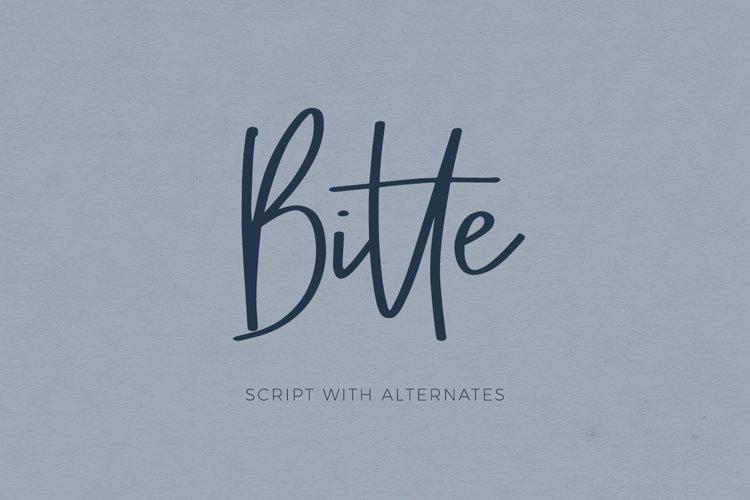 Bitte Handwriting Script Font example image 1