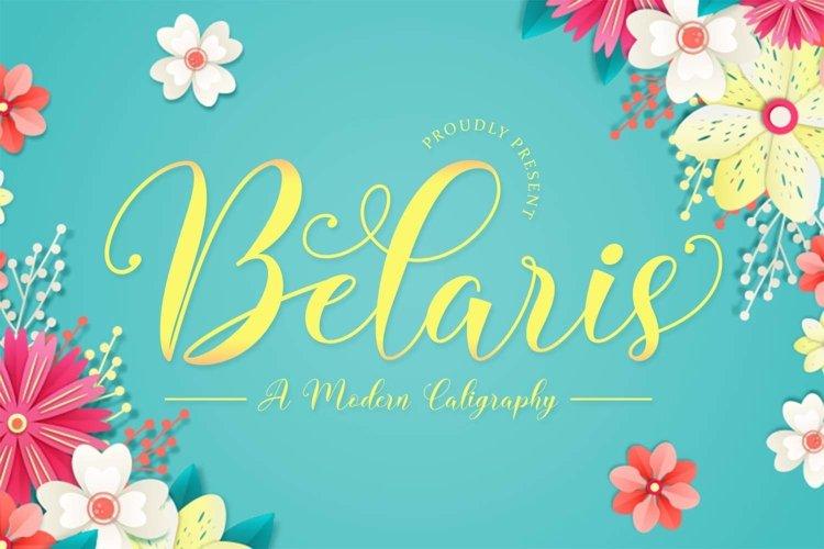 Belaris - Modern Calligraphy Font example image 1