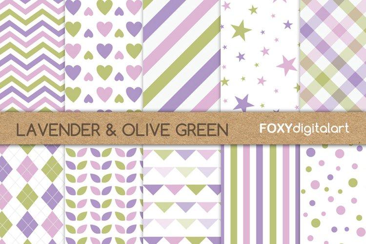 Digital paper purple lavender lime green scrapbook diy example image 1