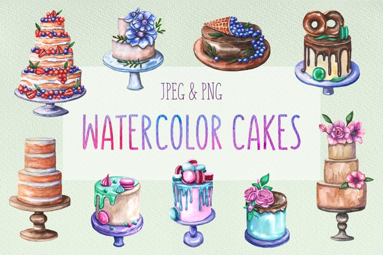 Watercolor cake collection