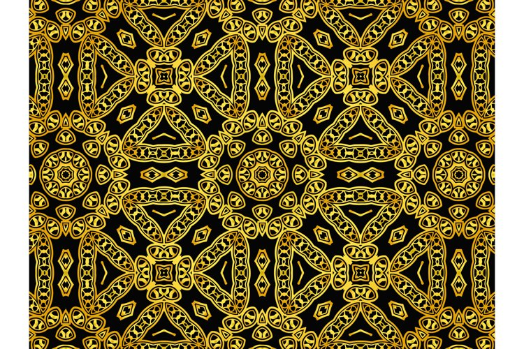 Pattern Abstract Gold Color Circle Ornament example image 1