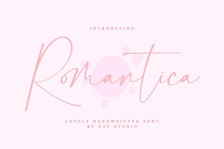 Romantica - Lovely Handwritten Font example image 1