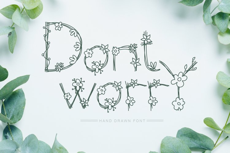 Dont Worry Hand Drawn Font example image 1