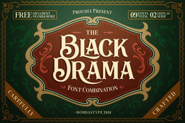 Black Drama Combination  Extras