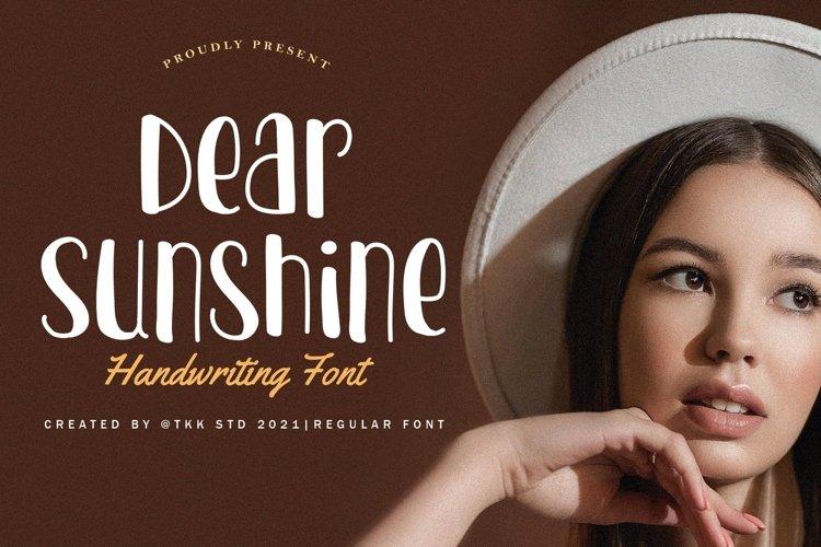 Dear Sunshine - Girly Font example image 1