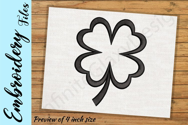 Four Leaf Clover - Embroidery Design files example image 1