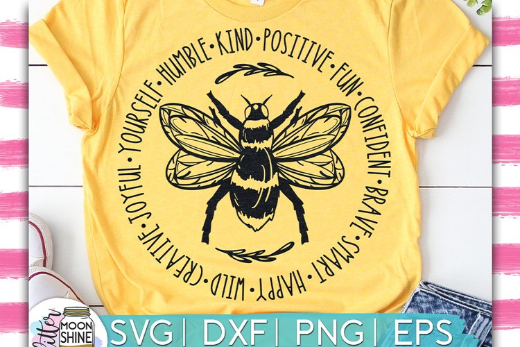 Bee Something Circle SVG DXF PNG EPS Cutting Files