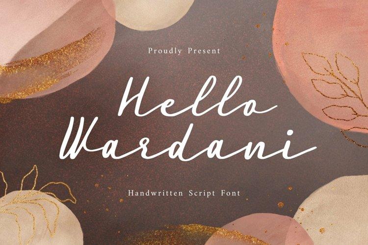 Web Font Wardani Display Font example image 1