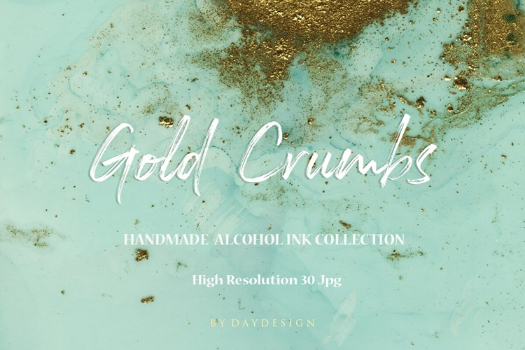 Turquoise Gold Crumbs Backgrounds example image 1