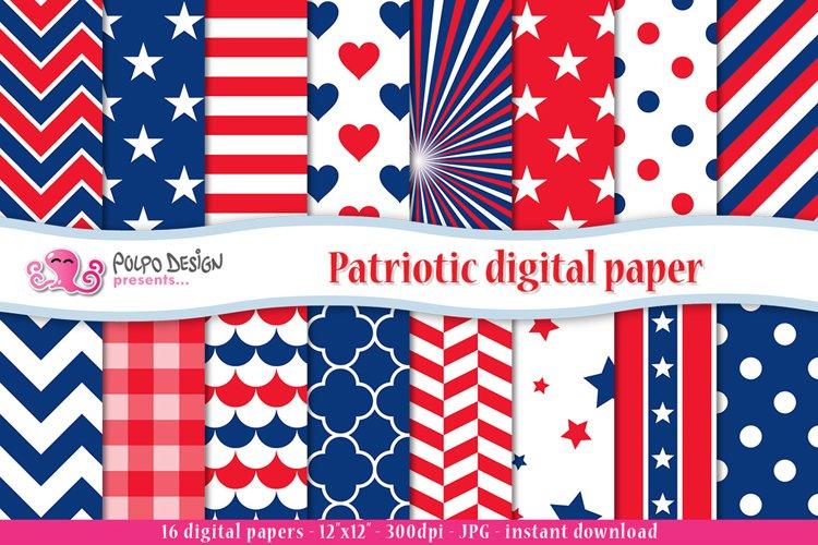 Patriotic digital paper example image 1