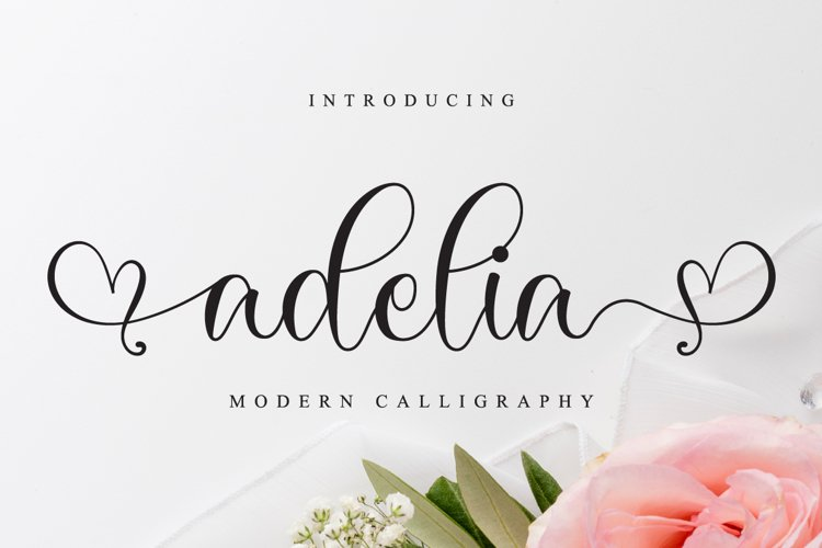 Adelia // Lovely Script Font example image 1