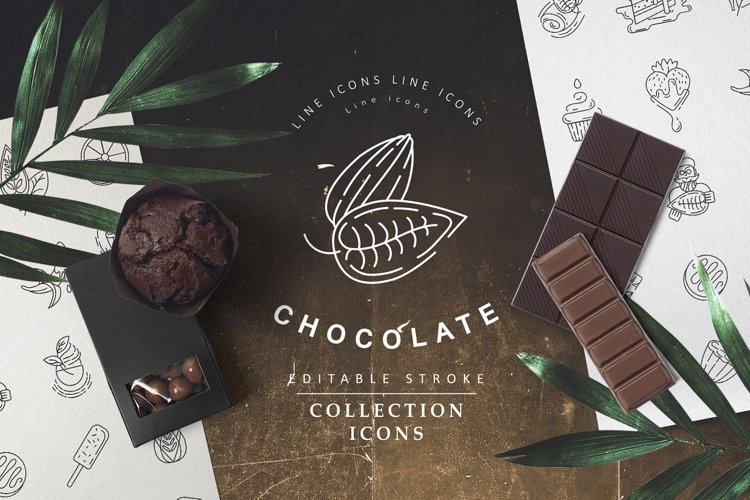 Chocolate icons and logos example image 1