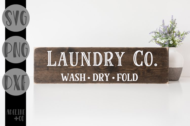 Laundry Co. sign, farmhouse, SVG, PNG, DXF example image 1