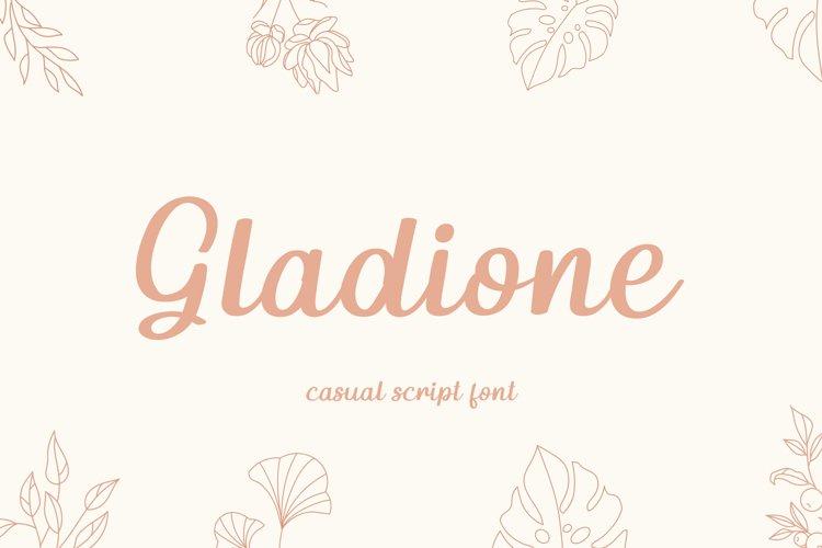 Gladione Script Font example image 1