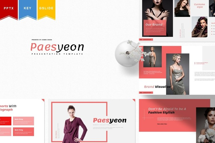 Paesyeon   Powerpoint, Keynote, Google Slides Template example image 1