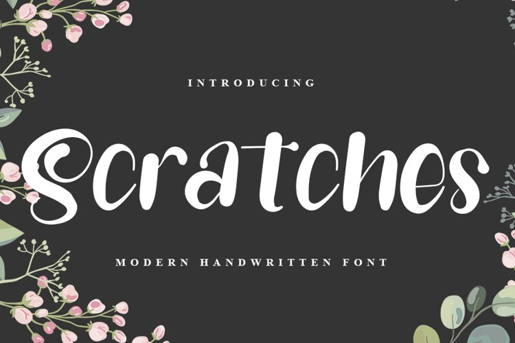 Scratches - Modern Handwritten Font example image 1
