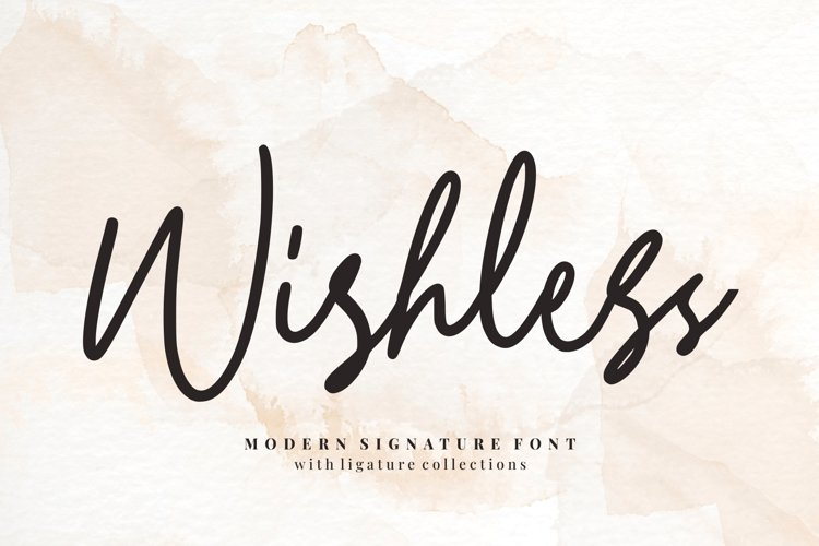 Wishless - Modern Signature example image 1