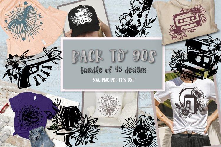 Back to 90s bundle of 45 SVG Designs Nostalgia set