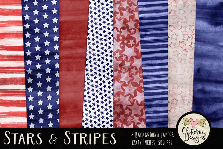 Stars and Stripes Background Textures example image 1