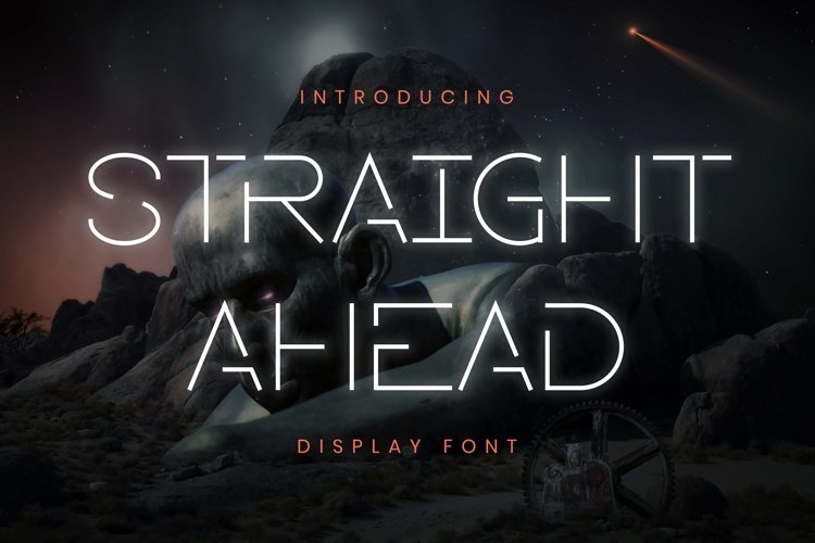 Web Font Straight Ahead Font example image 1