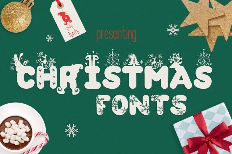 The Christmas Fonts Bundle with 6 Fonts   Bonus