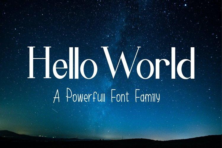 Hello World Font Family example image 1