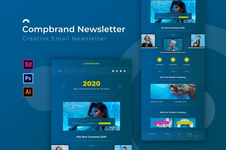 Compbrand | Email Newsletter Template example image 1