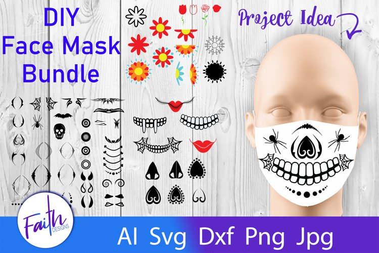DIY Face Mask Design Kit Svg Cut Files