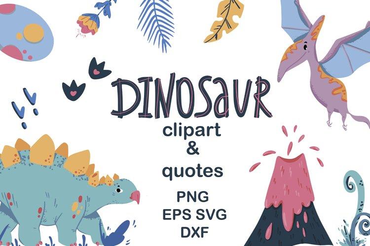 Dinosaur clipart Dinosaur quotes Dino SVG