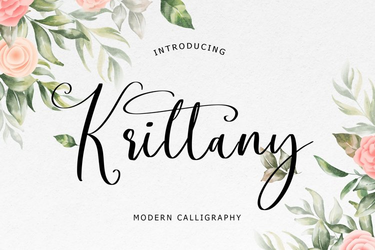 Krittany Modern Calligraphy example image 1