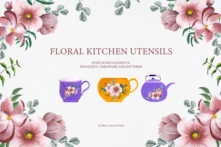 Floral Kitchen Utensils