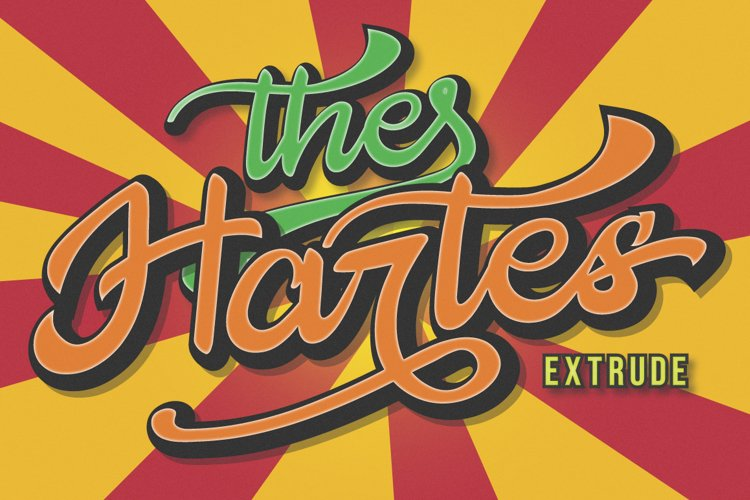 The Hartes Extrude Font