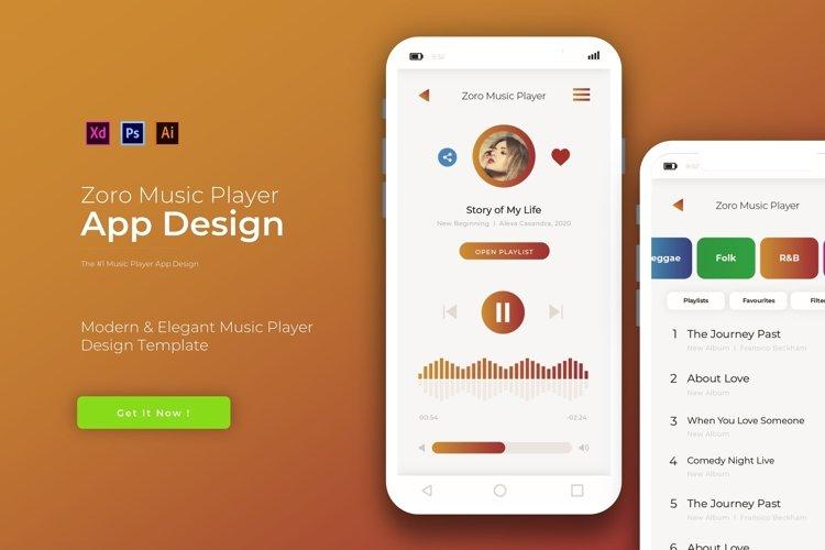 Zoro Music Player | App Template example image 1