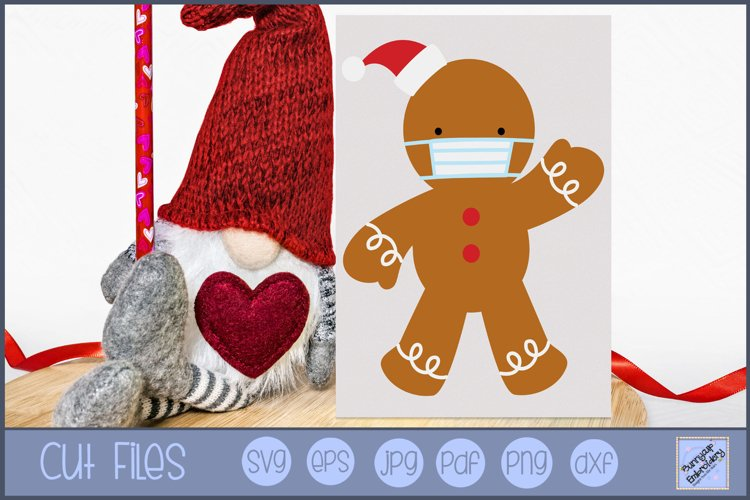 Face Mask Gingerbread Man SVG | Christmas SVG example image 1