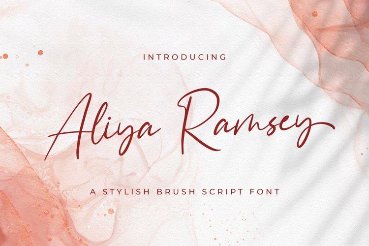 Aliya Ramsey - Handwritten Font example image 1