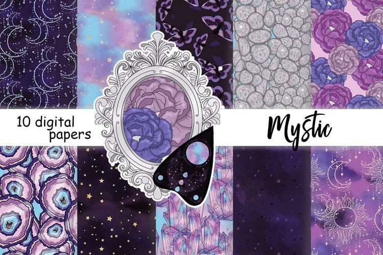Mystic PATTERN, Celestial Paper, Magic Moon Pattern - JPEG example image 1