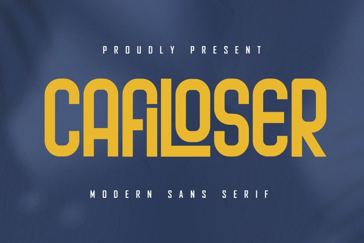 Cafiloser - Modern Sans Serif example image 1