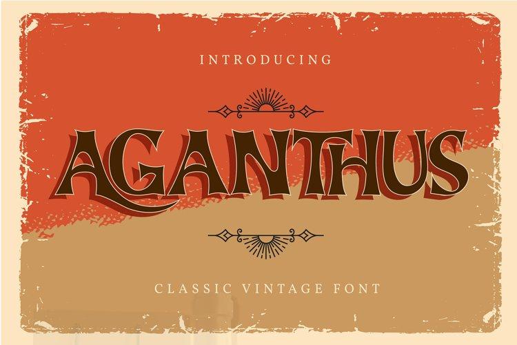 Aganthus   Classic Vintage Font example image 1